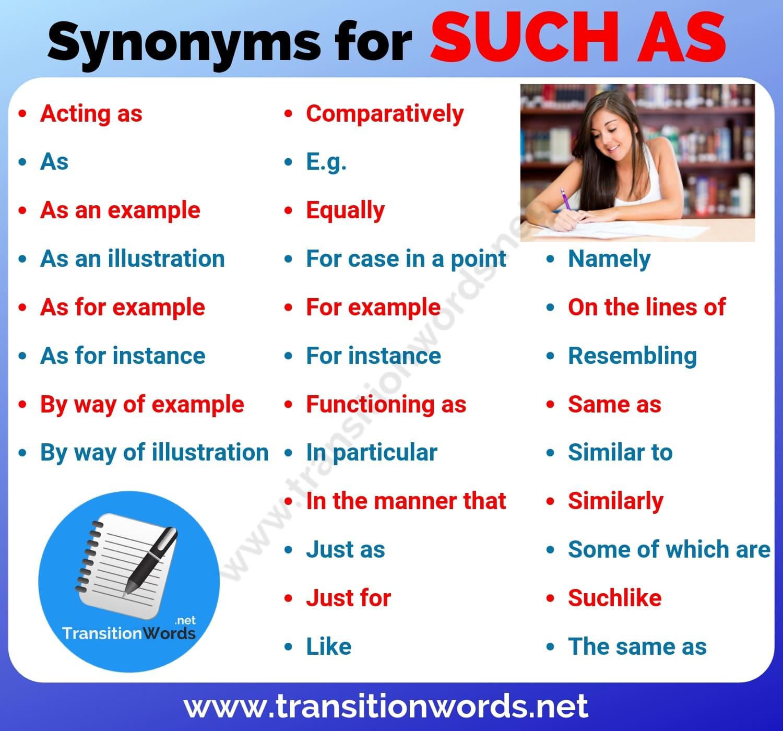 Such as Synonym