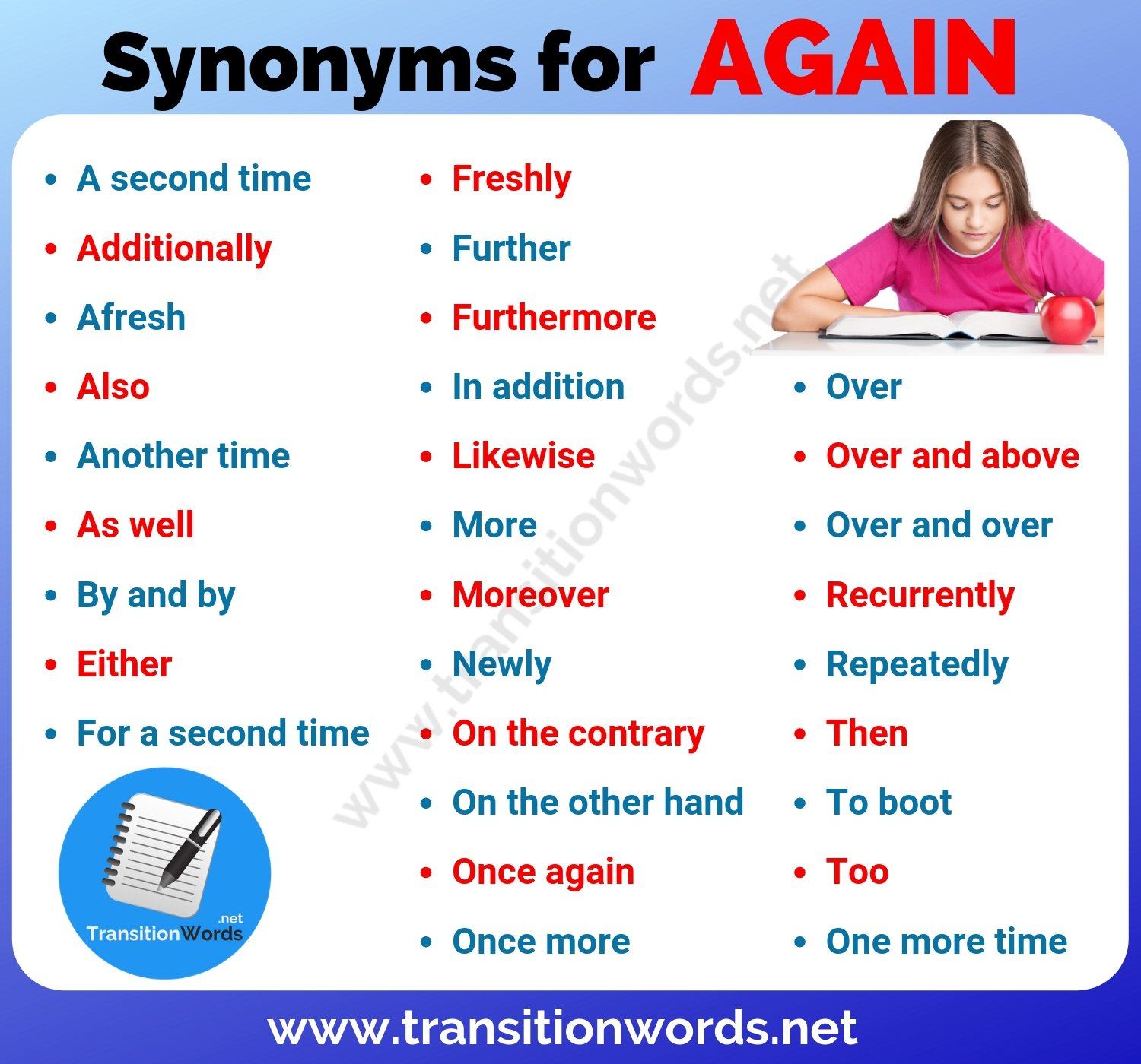 Again synonym