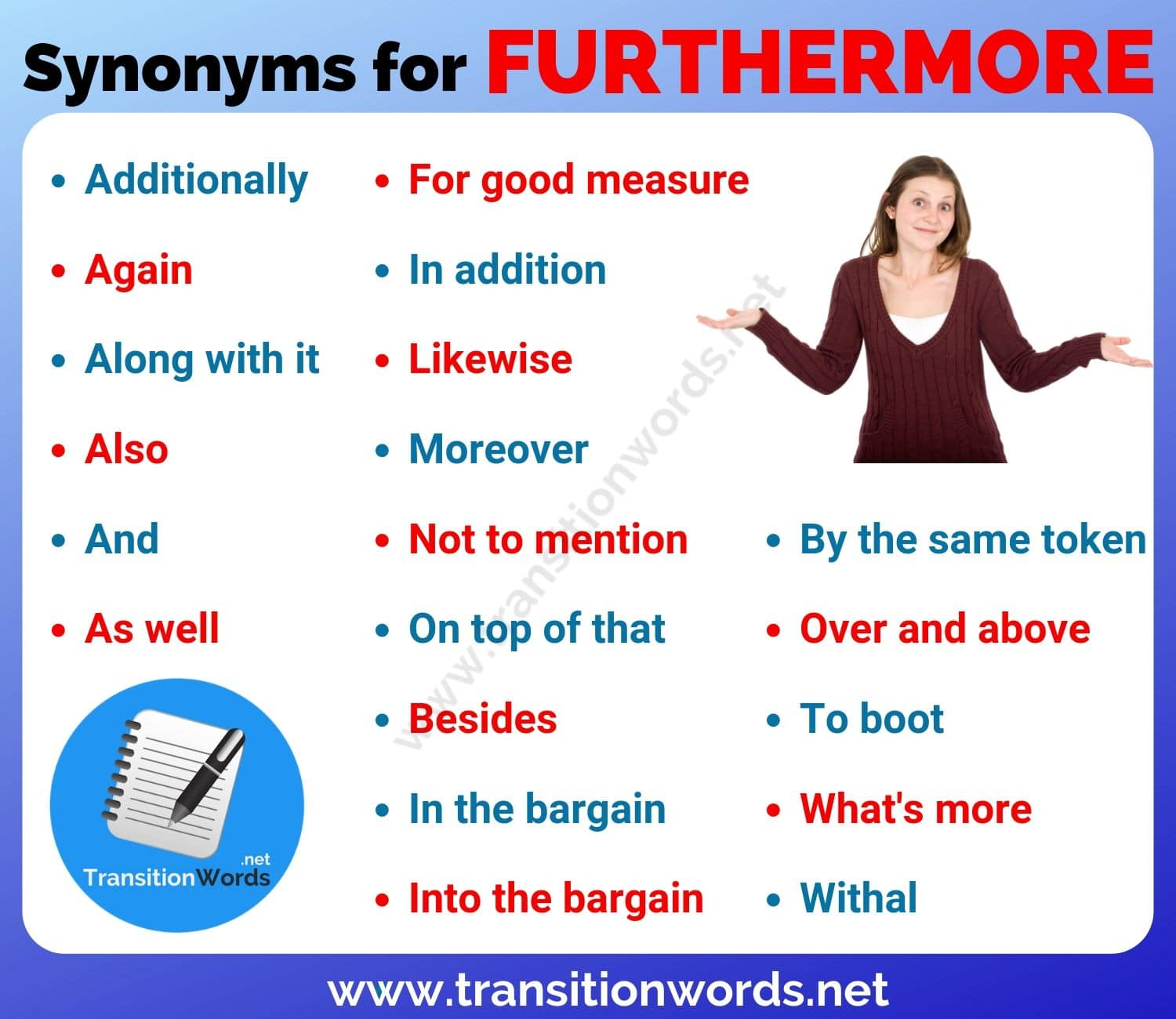 FURTHERMORE Synonym: List of 20 Powerful Synonyms for Furthermore