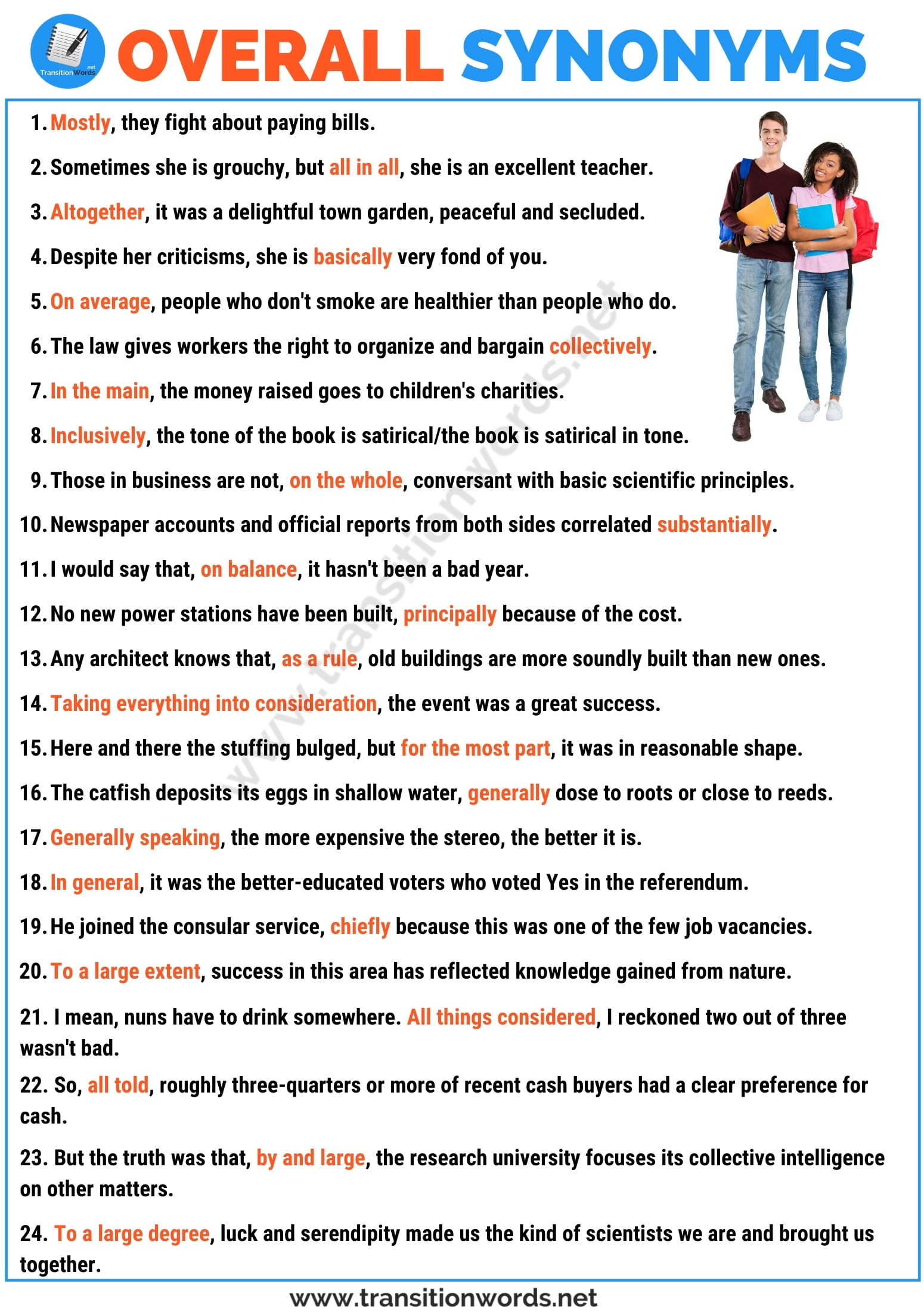 OVERALL Synonym: List of 28 Useful Synonym for Overall with Examples