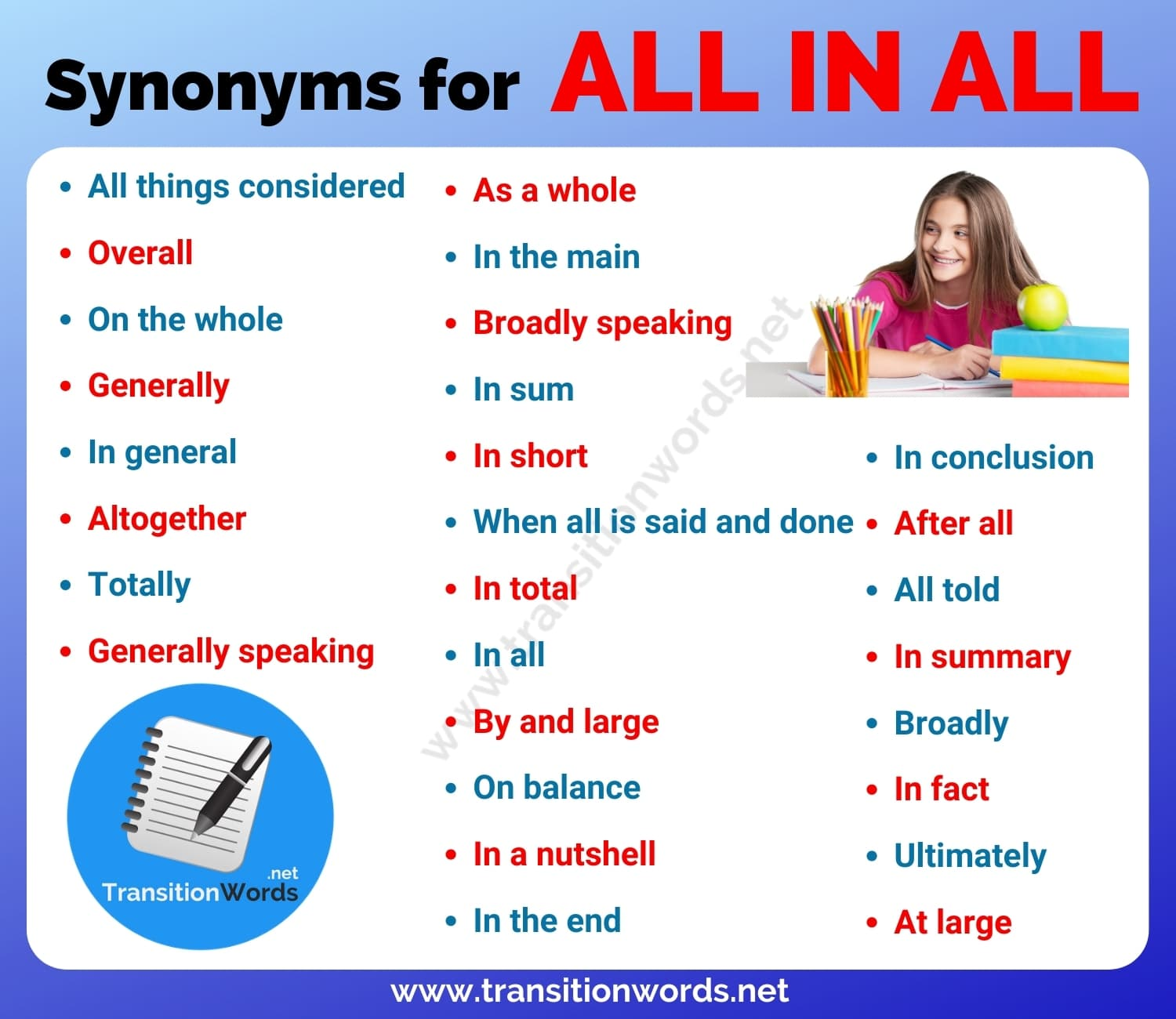 All in all Synonym: List of 25+ Synonyms for All in all with Useful Examples