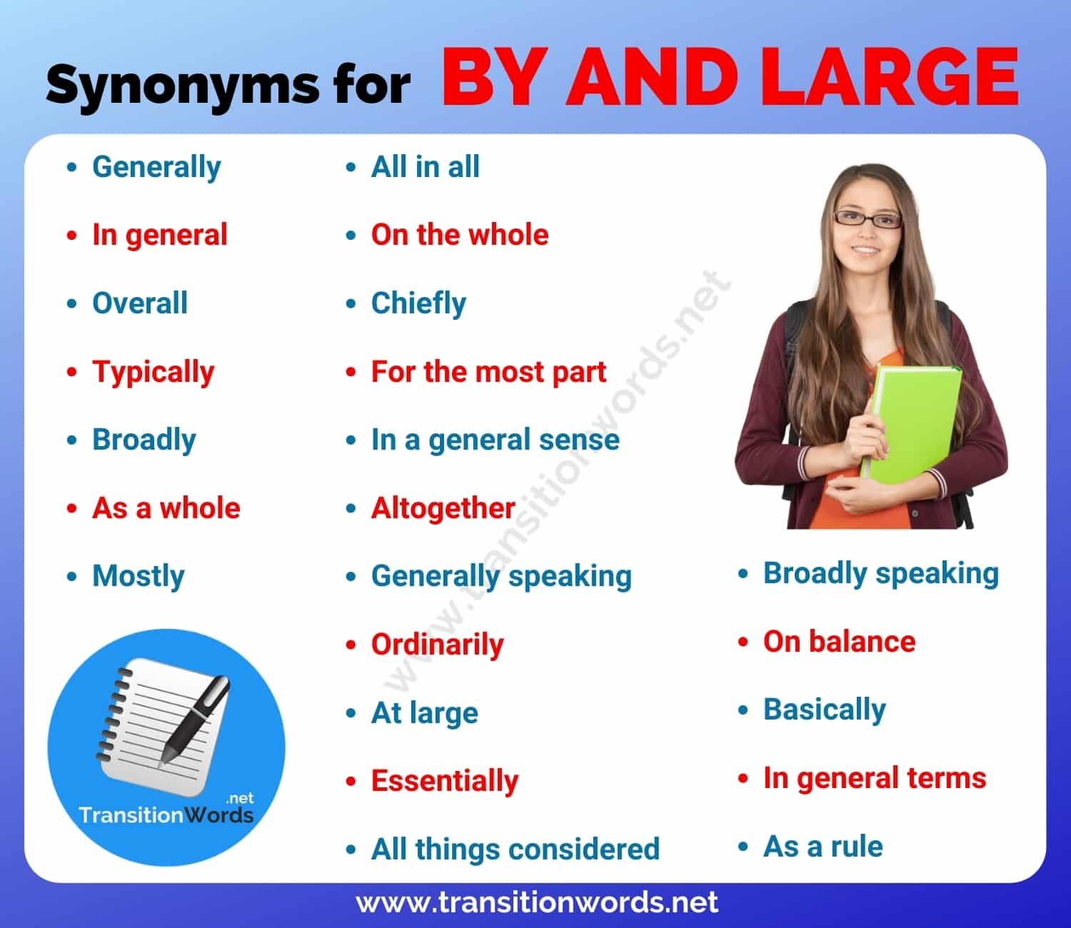 By and Large Synonym: List of 20+ Synonyms for By and ...