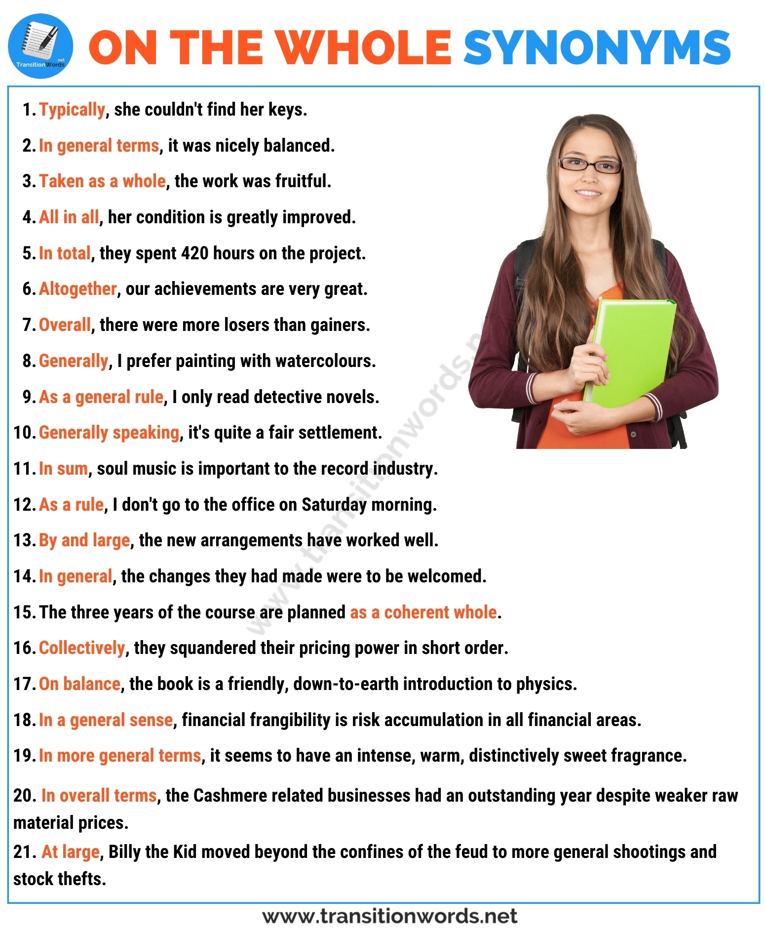 On the whole Synonym: List of 20+ Synonyms for On the Whole with Useful Examples